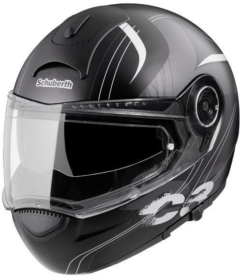 Schuberth C3 Decor Stripes Casque noir mat
