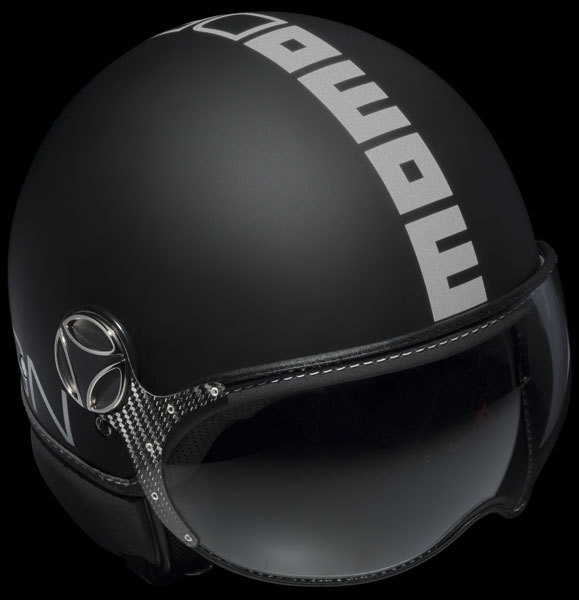 MOMO Model FGTR Black Matt Logo Silver
