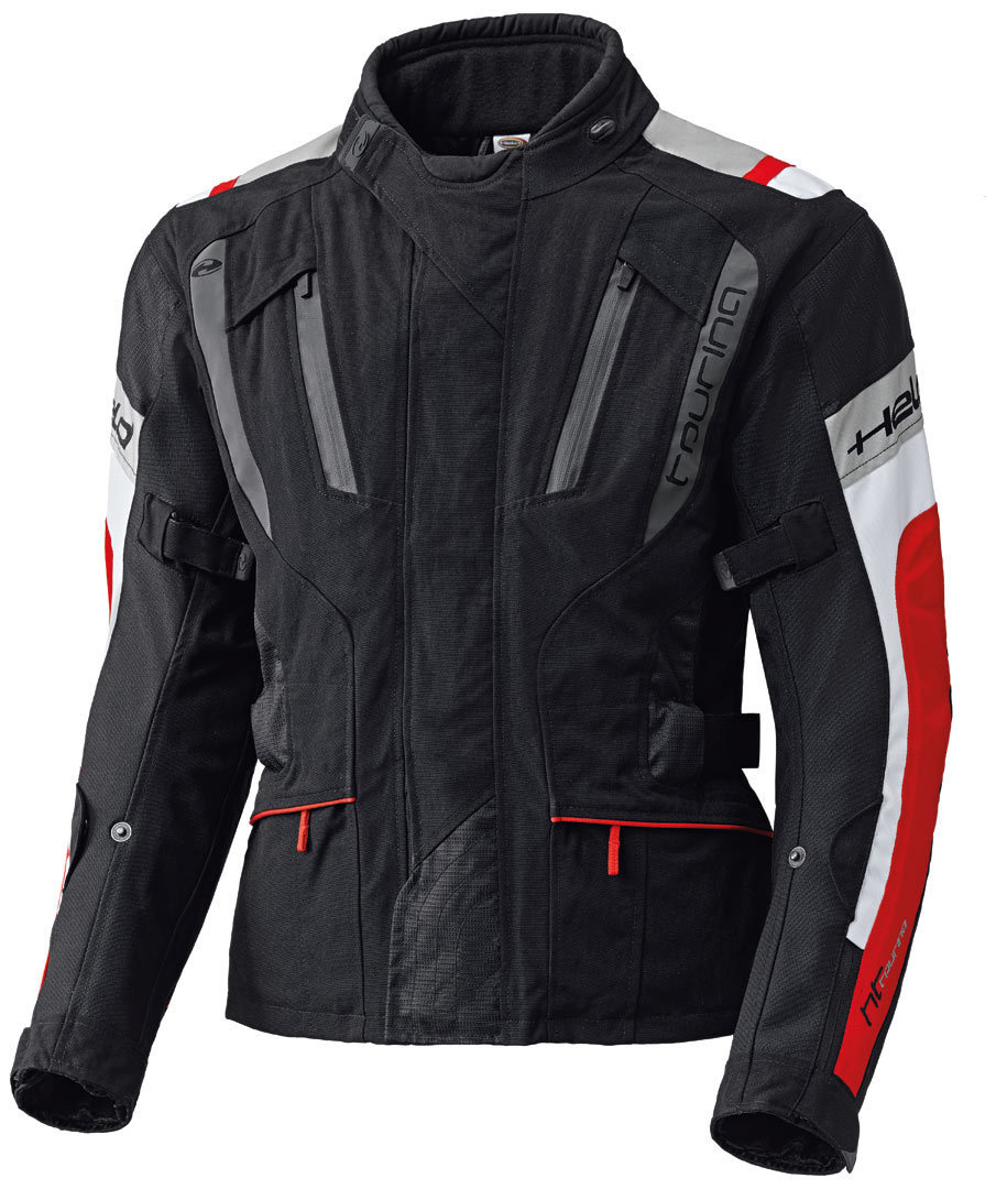 Held 4-Touring Textile Jacket, black-red, Size S, black-red, Size S