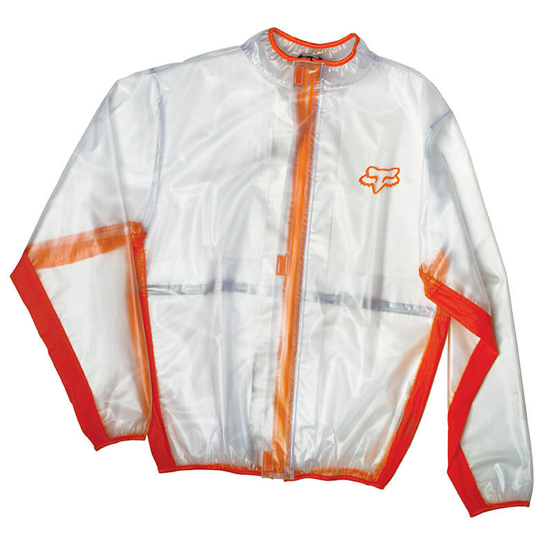 FOX MX Fluid Regenjacke, orange, Größe L, orange, Größe L
