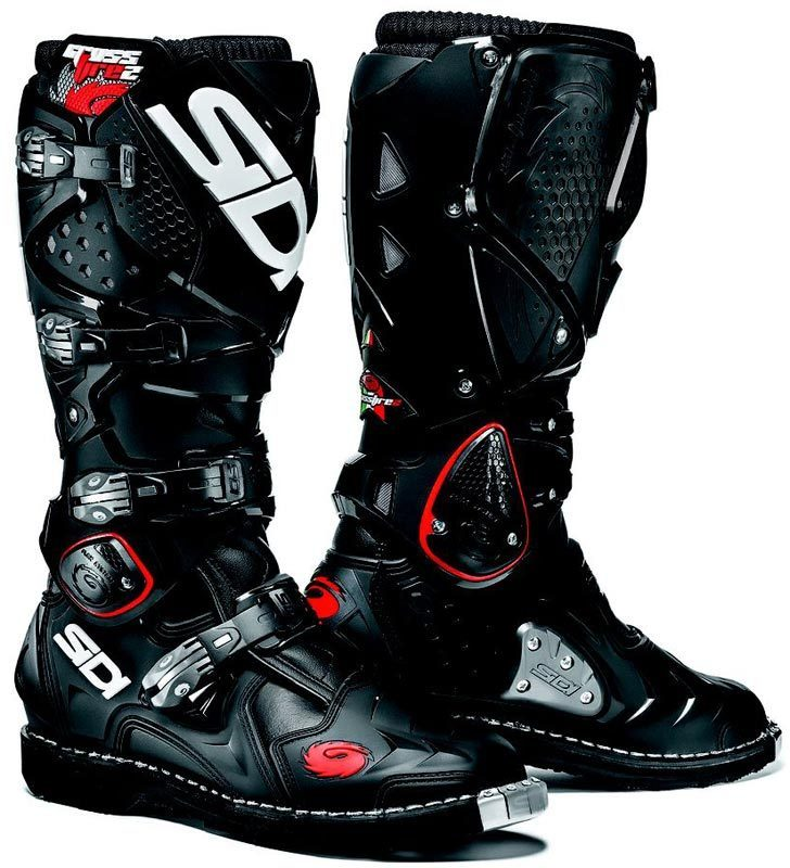 sidi crossfire 2 motocross mx off road boots black size 47 ebay. Black Bedroom Furniture Sets. Home Design Ideas