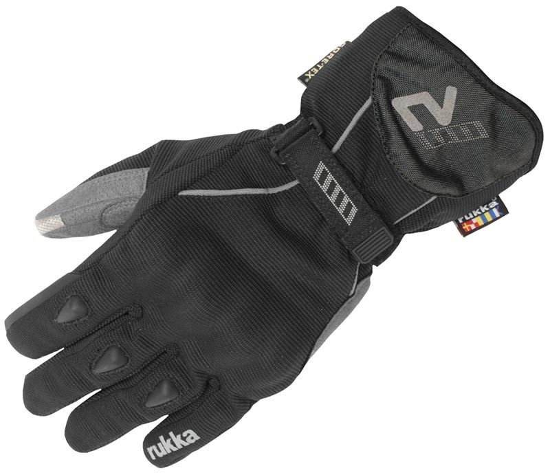 RUKKA VIRIUM TOUCH SCREEN TECH GTX GORETEX WATERPROOF MOTORCYCLE GLOVES BLACK S