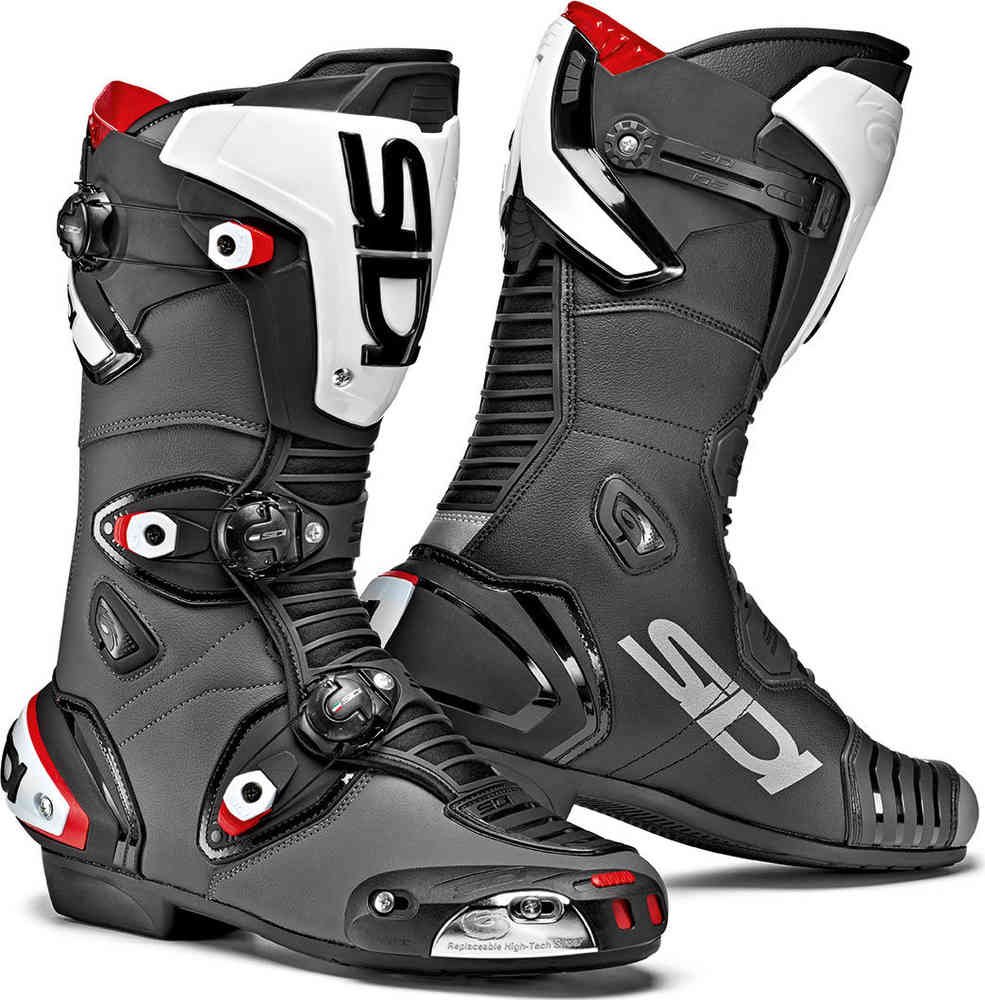 Free P/&P Sidi Vortice Air Black Perforated Supersport Motorcycle Boots