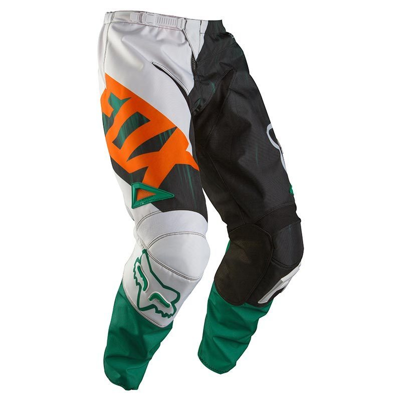 FOX 180 Vandal Cross Pants, green-orange, Size 34, green-orange, Size 34