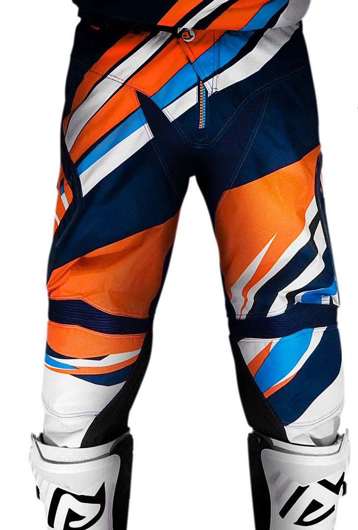 Acerbis Impact Kinder Motocross Hose Blau Orange XS