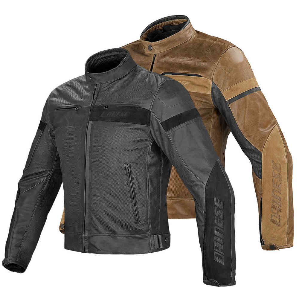 Dainese retro leather jacket