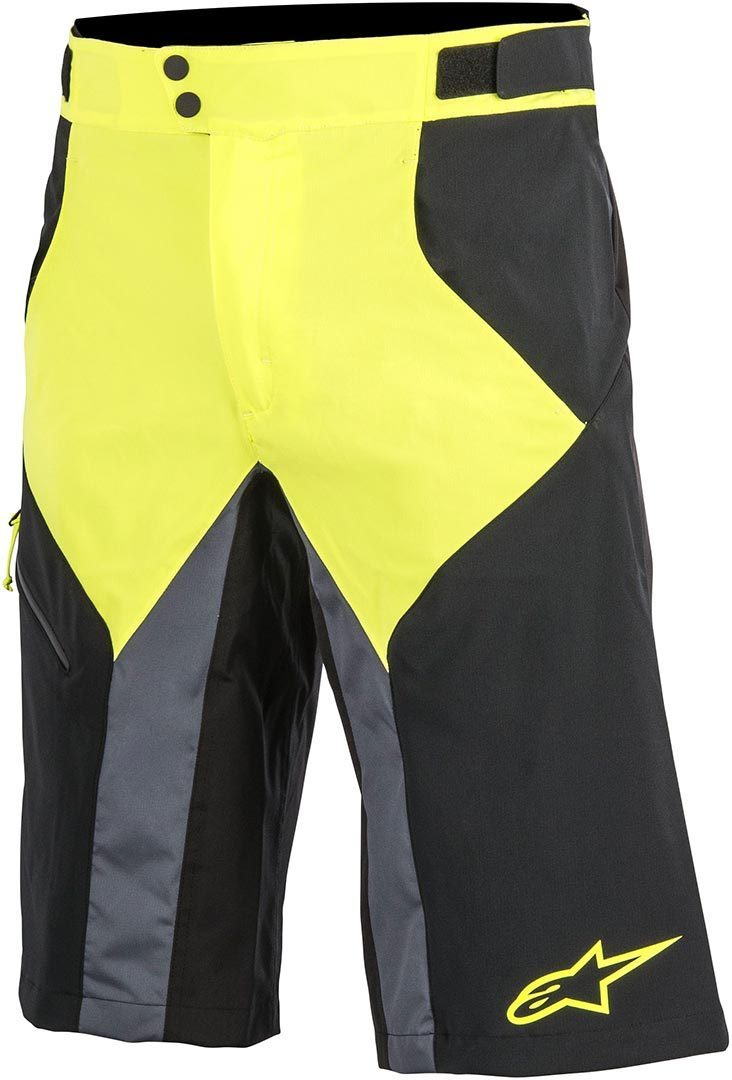 Alpinestars Outrider Bicycle Shorts, black-yellow, Size 28, black-yellow, Size 28
