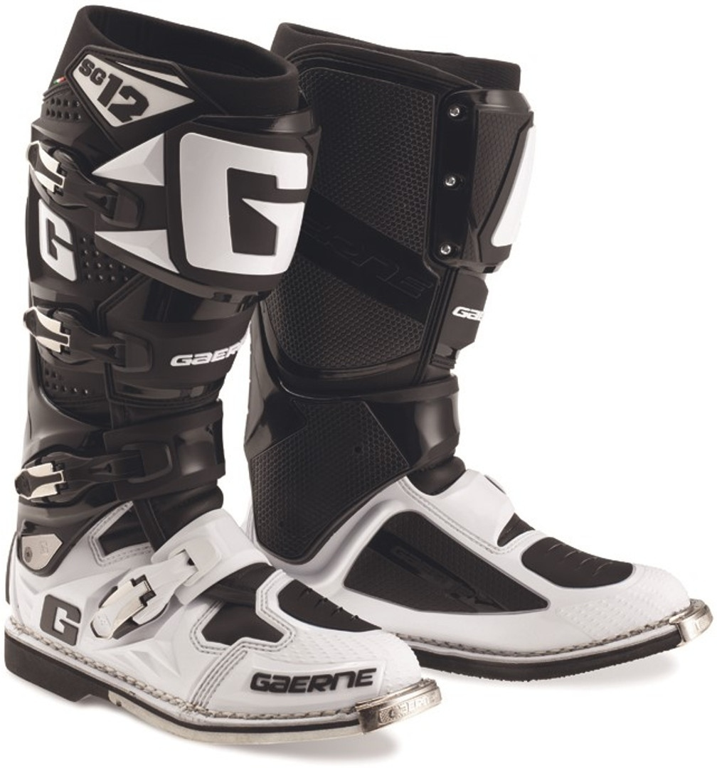 Gaerne SG-12 Limited Edition Motocross Stiefel, schwarz-weiss, Größe 45, schwarz-weiss, Größe 45