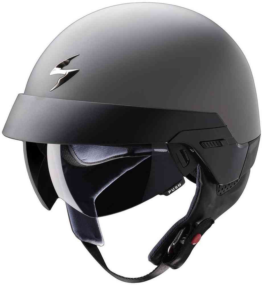 Scorpion Exo 100 Jet Helmet Anthracite Matt ...