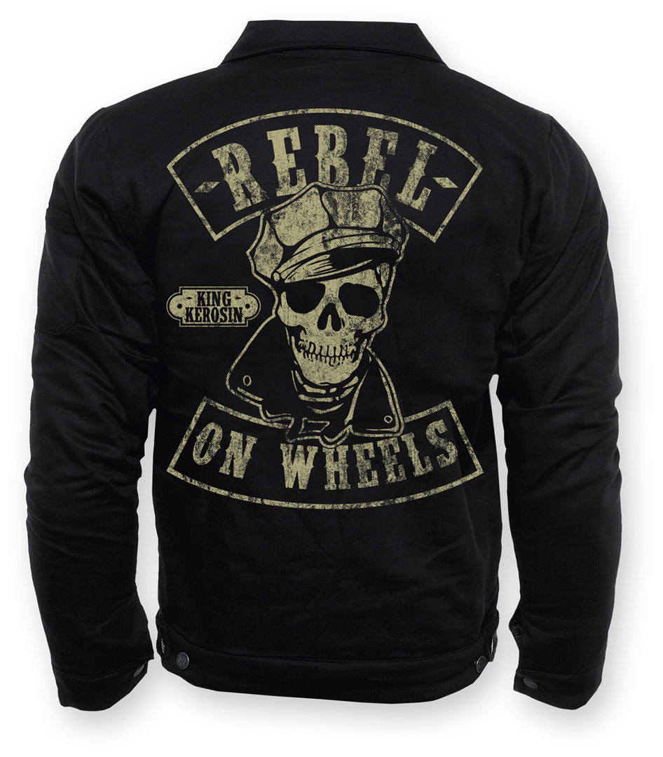 king kerosin rebel on wheels worker jacke g nstig kaufen. Black Bedroom Furniture Sets. Home Design Ideas