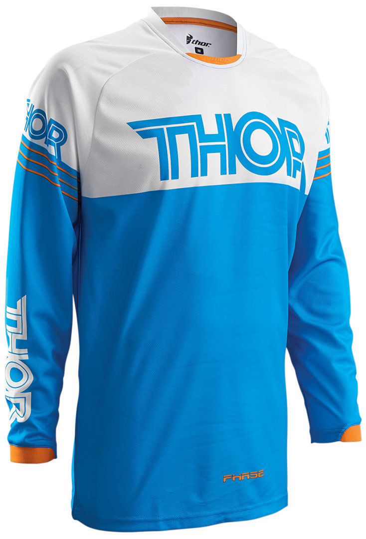 Thor Phase Hyperion Youth Jersey, white-blue, Size M, white-blue, Size M