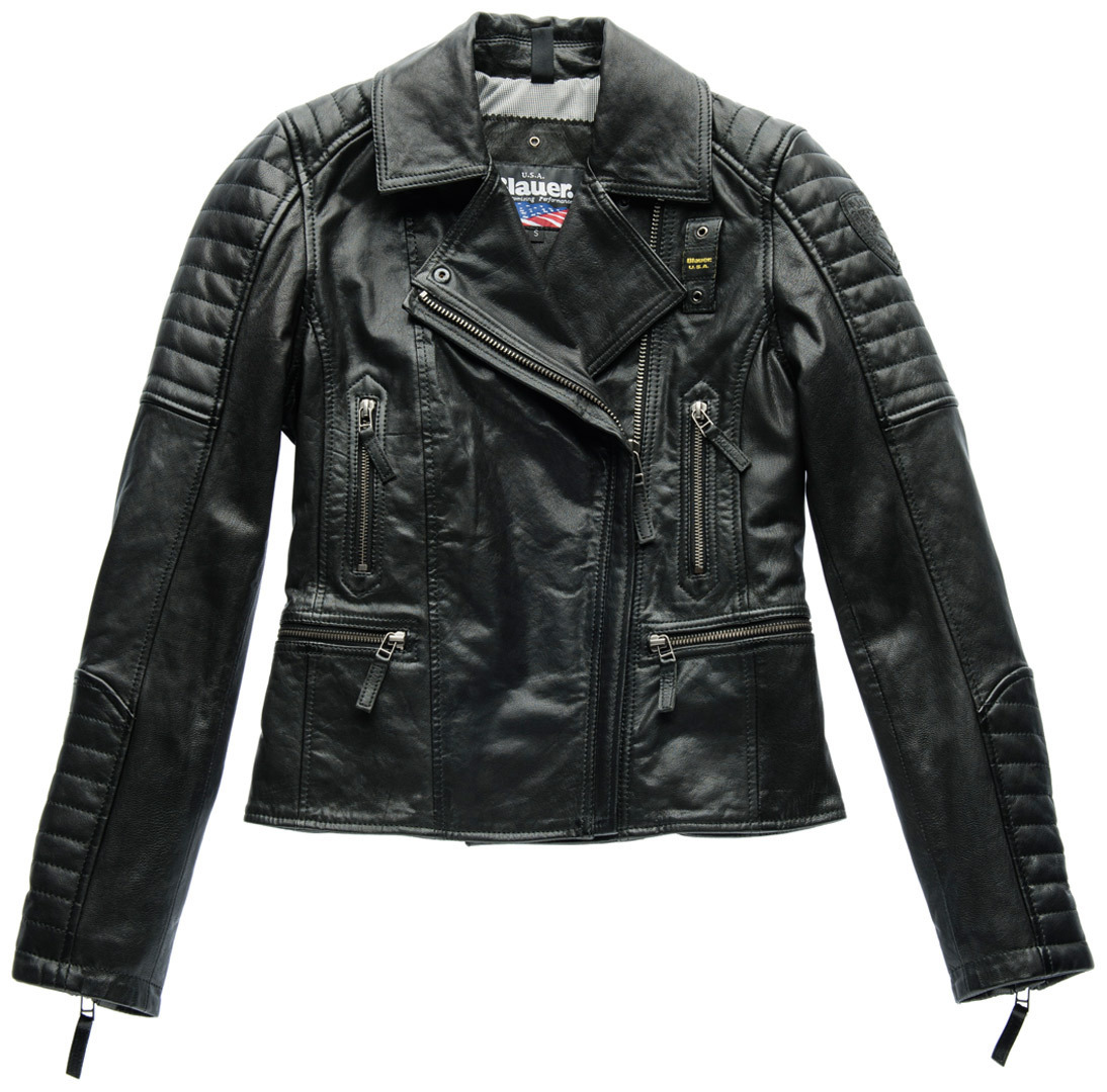 blauer-usa-padded-collar-ladies-leather-jacket-black-s