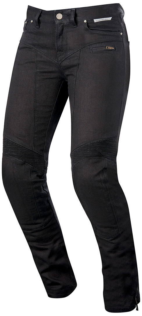 Alpinestars Riley Tech Denim Damen Motorradjeans Schwarz 26