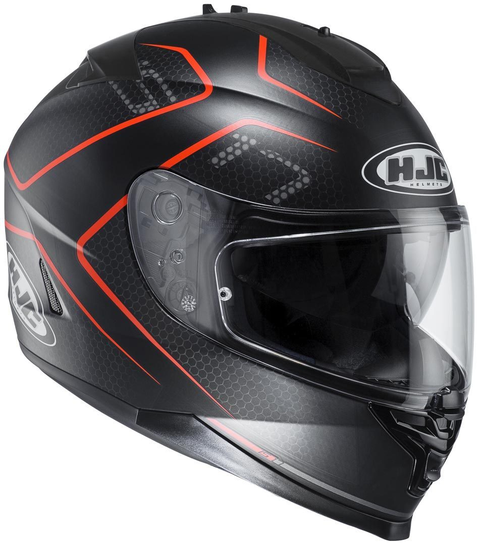 Image For HJC IS-17 Lank Helm Schwarz/Rot XS (53/54)