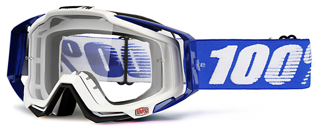 100% Racecraft Motocross Brille, weiss-blau, weiss-blau