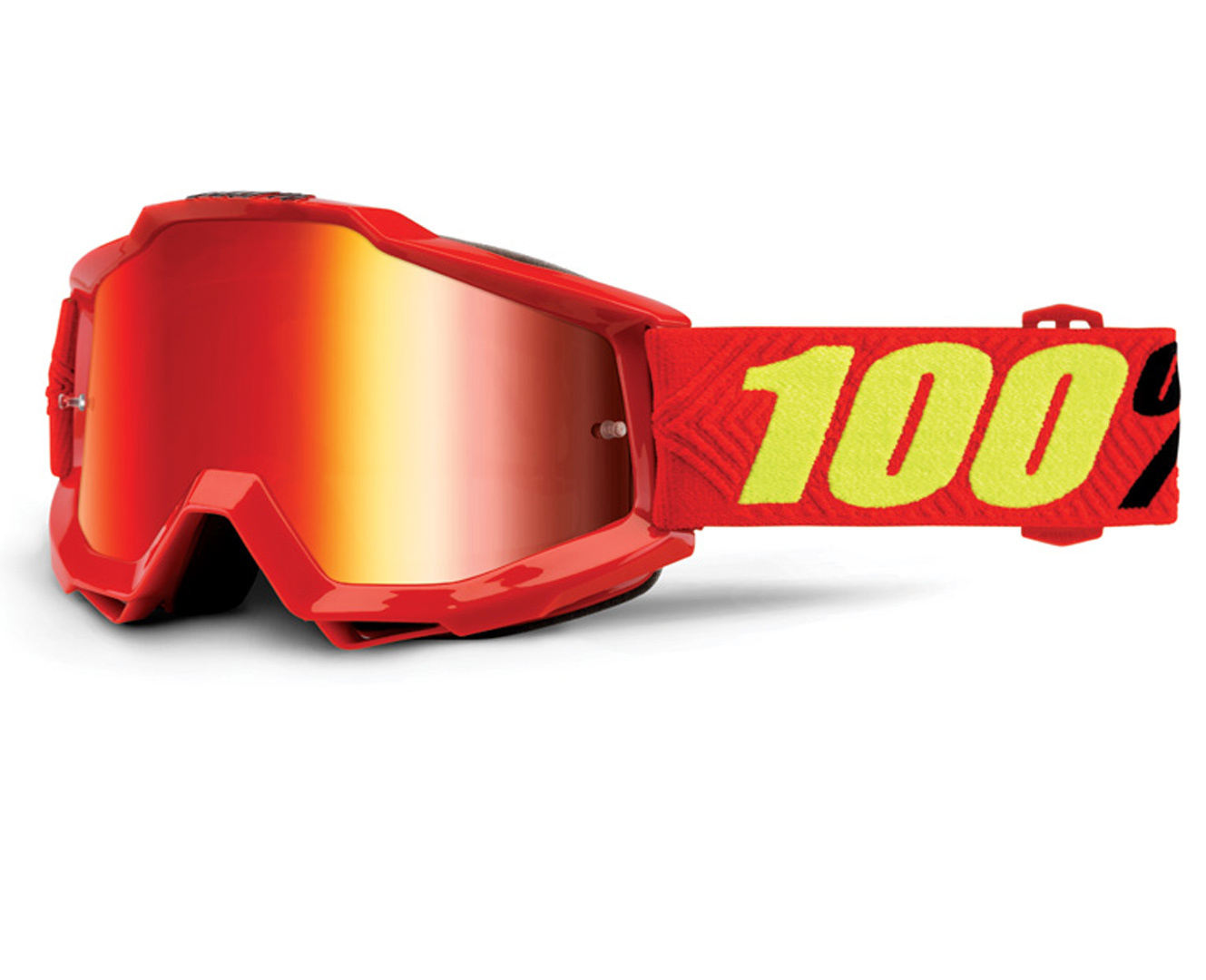 100% Accuri Extra Motocross Brille, rot-gelb, rot-gelb RC Modellbau