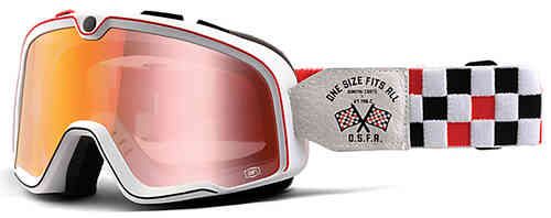 Barstow Classic Goggle-Wit/rood