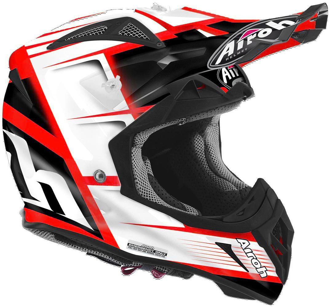 Airoh Aviator 2.2 Reflex Motocross Helm Schwarz Orange XS
