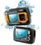 Aquapix W1400 Active Unterwasser-Digitalkamera mit Dual-Display