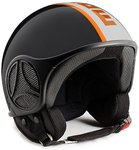 MOMO Minimomo Jet Helm Black / Orange