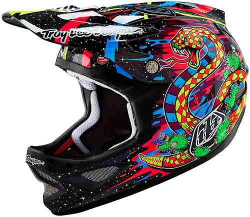 Troy Lee Designs D3 Blacklight Carbon Helm