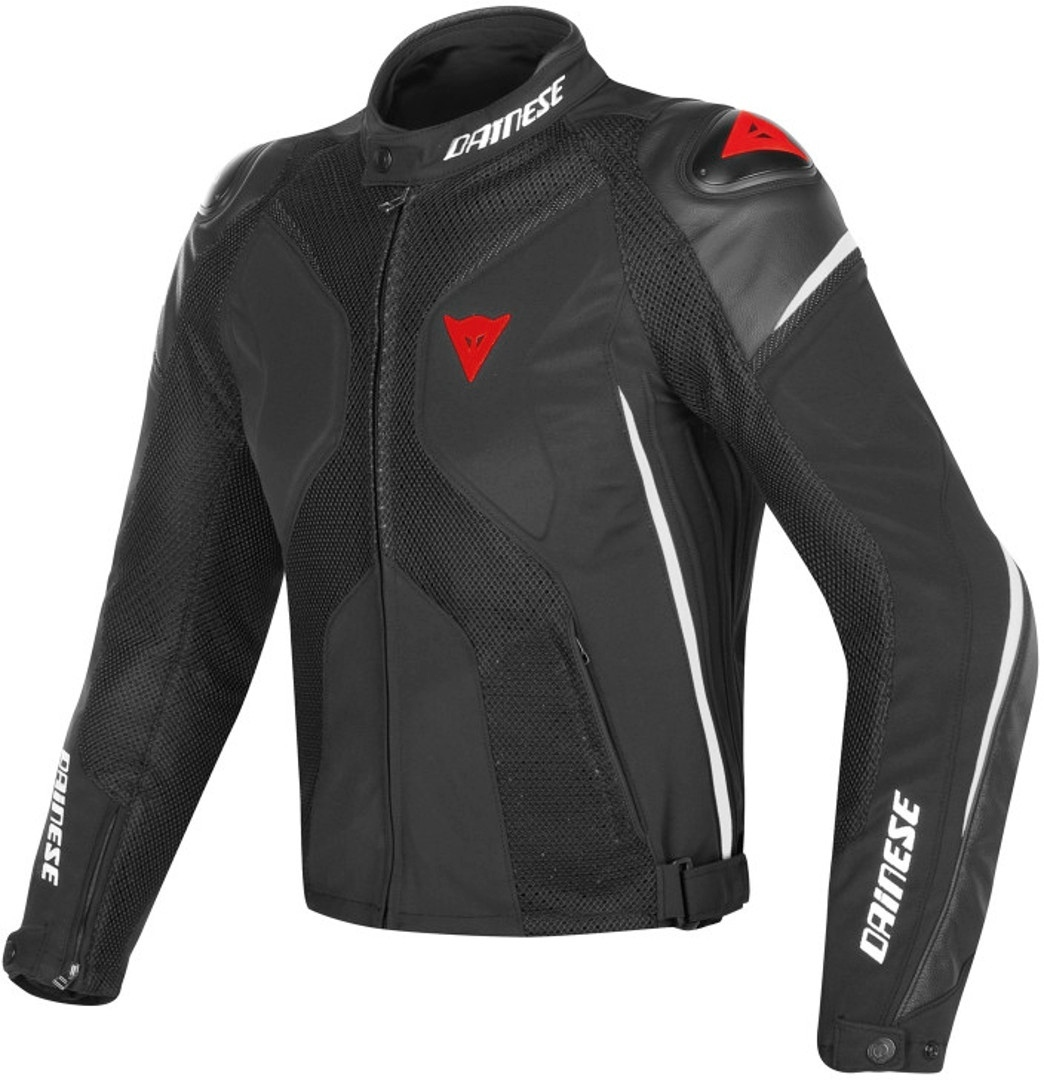 'Dainese Super Rider D-dry Motorcycle Textile Jacket, Black-white-red, Size 50, Black-white-red, Size 50