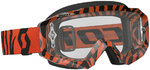 Scott Hustle MX Brille Schwarz Neon Orange Clear Works