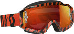 Scott Hustle MX Brille Schwarz Neon Orange Chrome Works