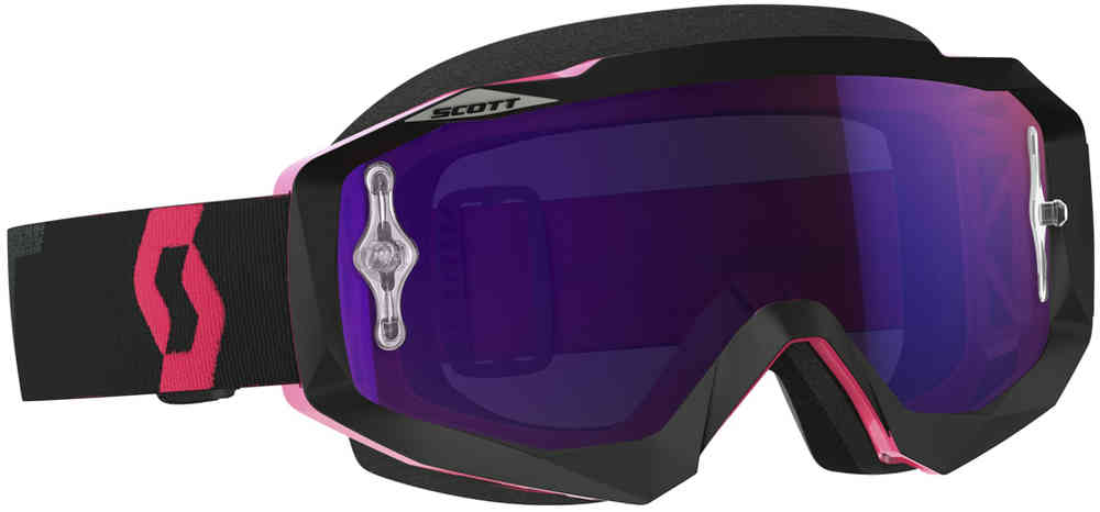 Scott Hustle MX Motocross briller svart/Fluo Pink