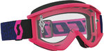 Scott Recoil XI Clear Works Motocross óculos azul/Fluo Pink