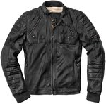 Black-Cafe London Ghom Chaqueta de cuero de motocicleta