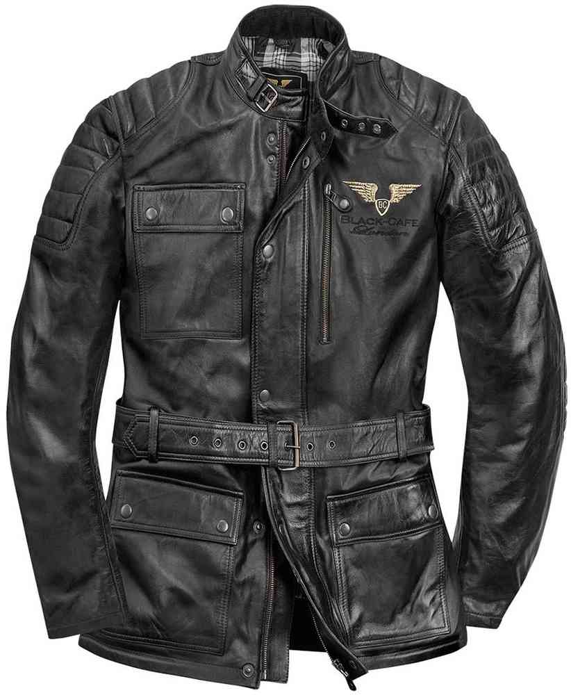 Black Cafe London Kerman Motorrad Lederjacke