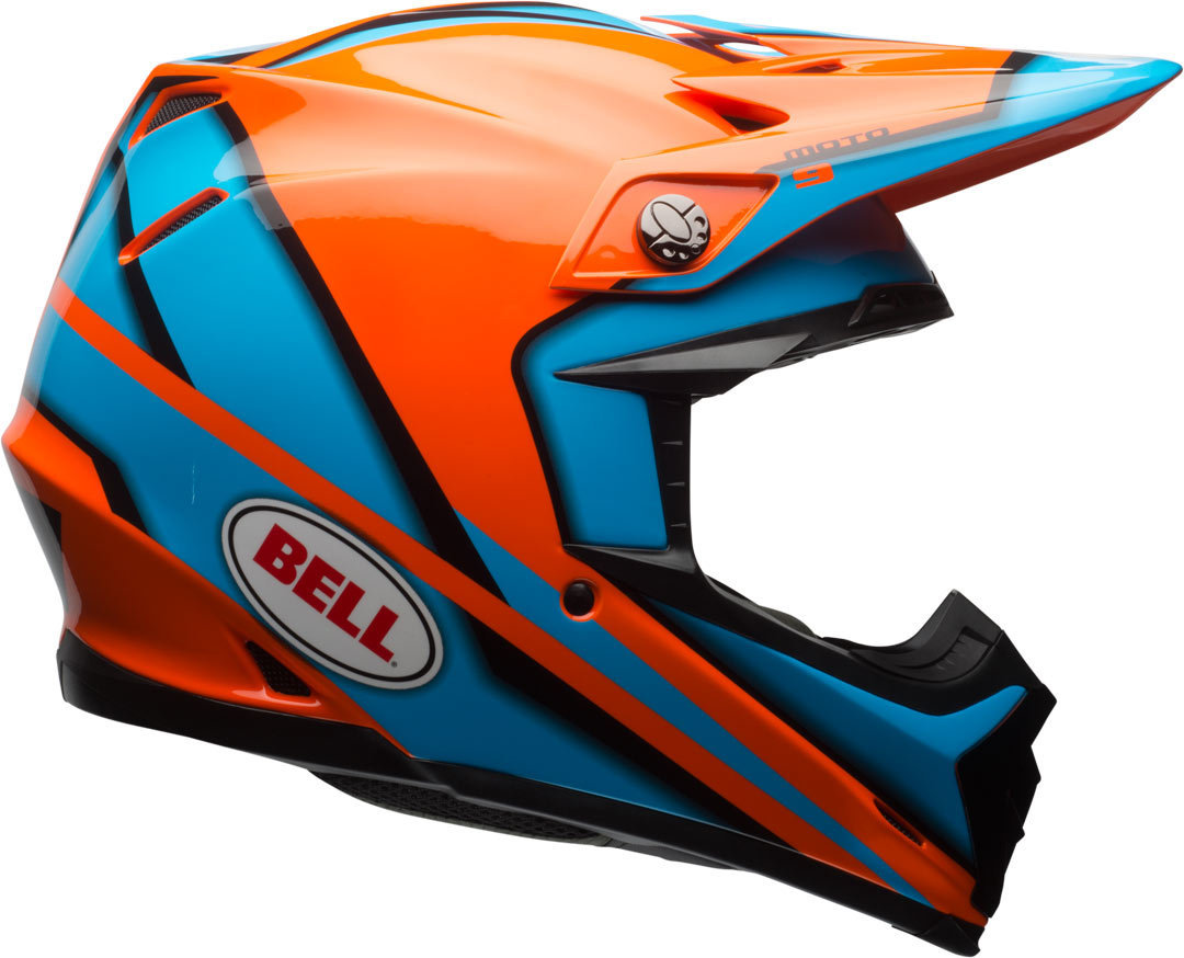 Bell Moto-9 Spark Motocross Helm Orange XL
