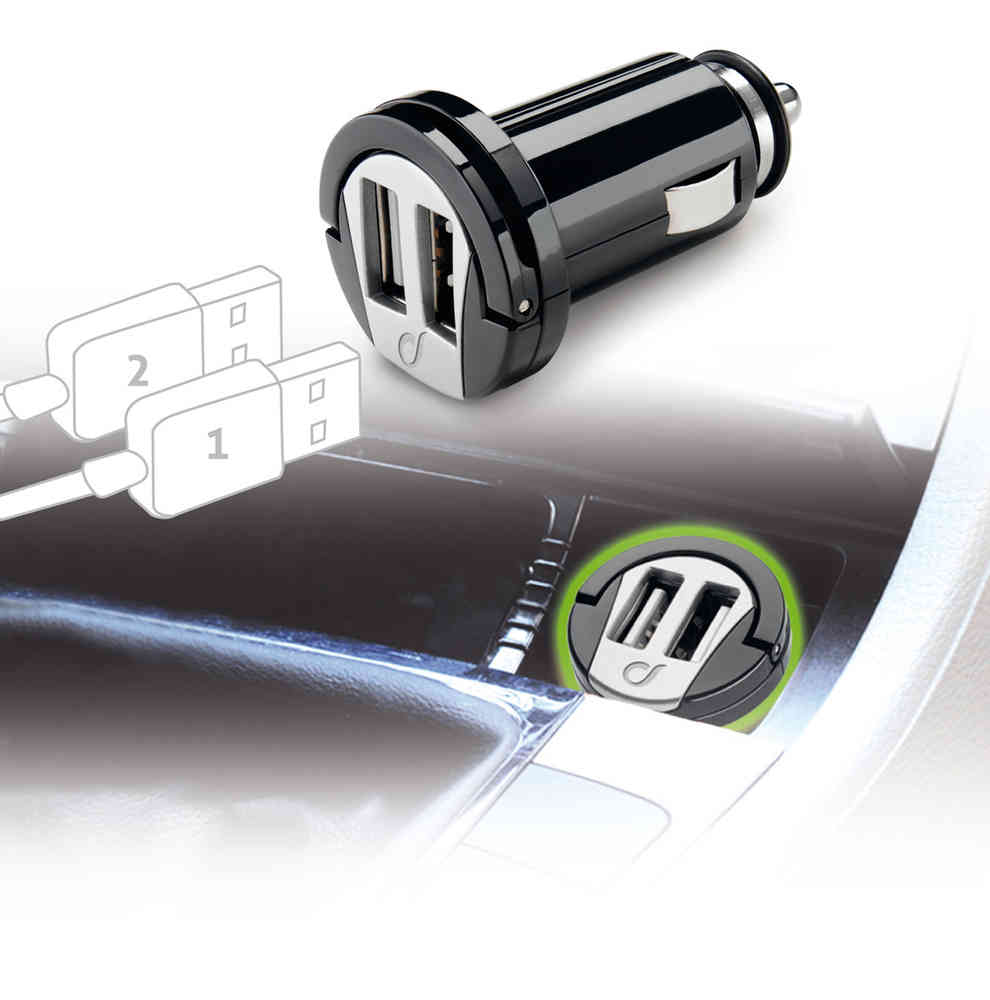 Cellularline USB Car Charger Dual Adapter
