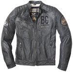 Black-Cafe London Rocka Chaqueta de cuero de motocicleta