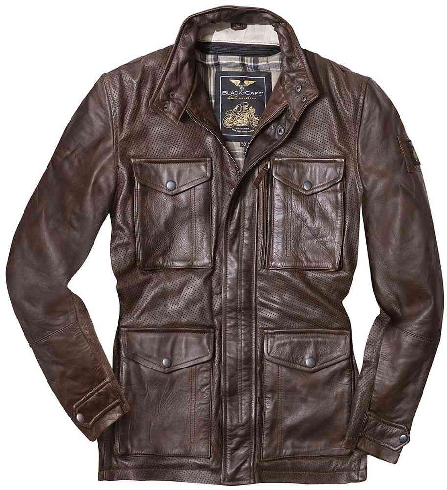 Black Cafe London Classic Motorrad Lederjacke