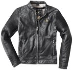 Black-Cafe London Milano Veste en cuir de moto