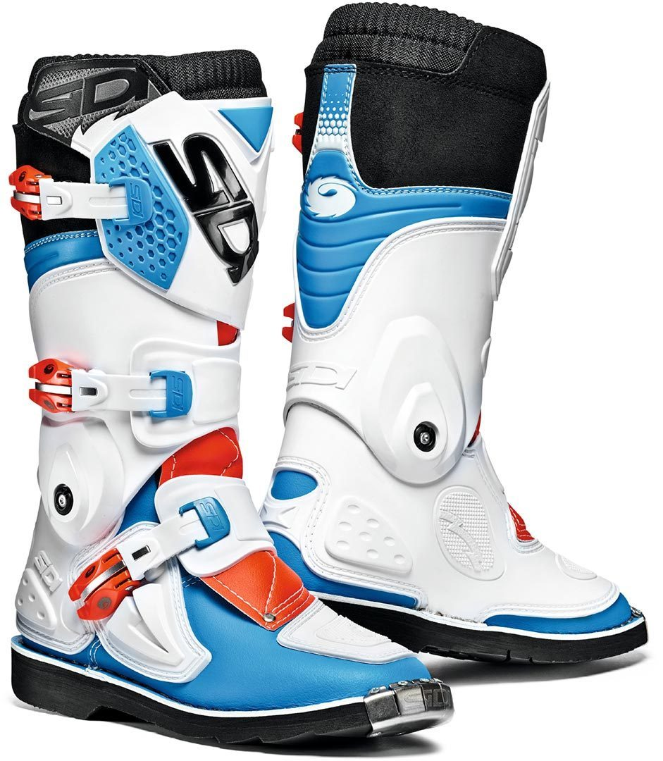 Sidi Flame Kinder Motocross Stiefel, weiss-rot-blau, Größe 41, weiss-rot-blau, Größe 41