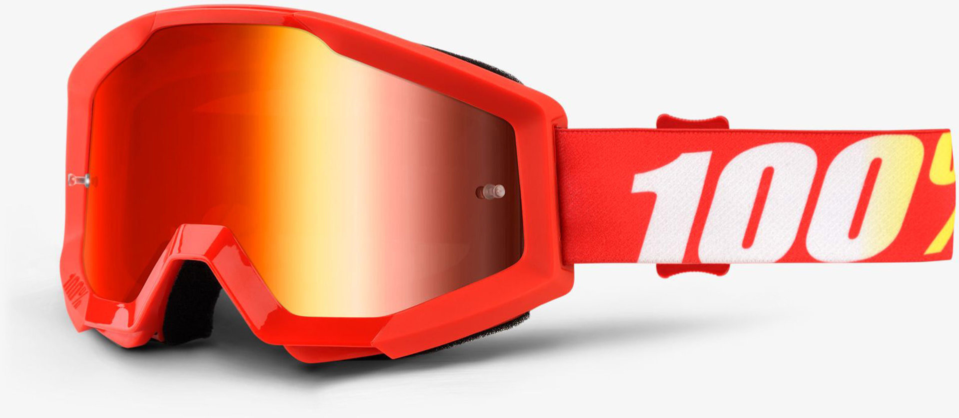 Bekleidung 100% Strata Extra Motocross Brille, rot, rot