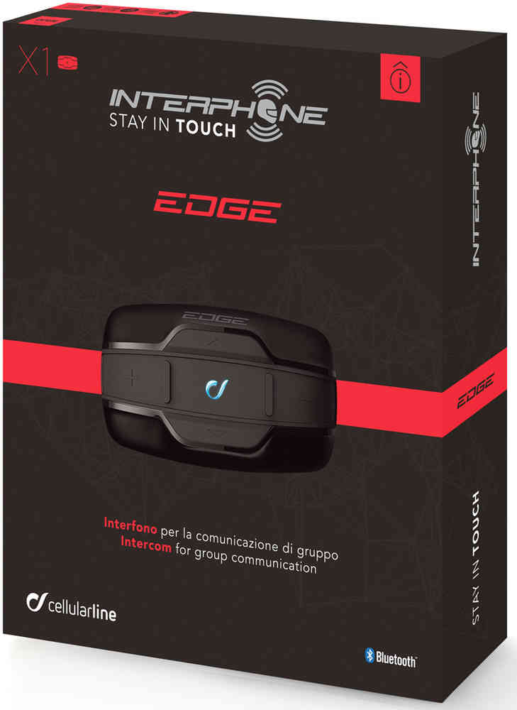 Interphone Edge Bluetooth communicatie systeem Double Pack
