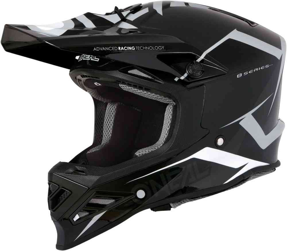 59//60 Oneal 8Series Blizzard Motocross Helm Blau L
