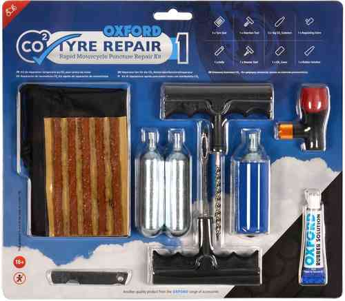 Oxford CO2 Tyre Kit de reparación un tamaño