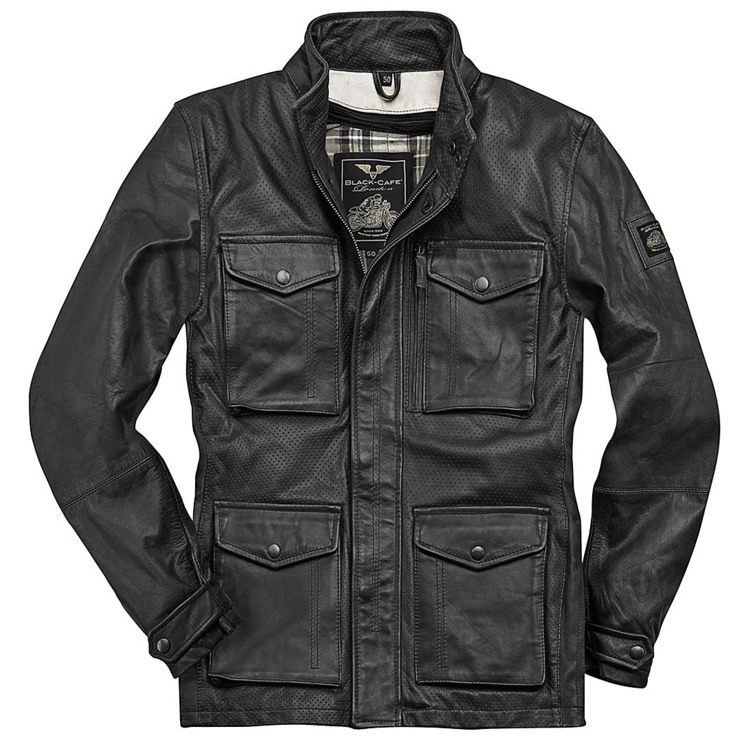 Black-Cafe London Manhattan Lederjacke Schwarz 48