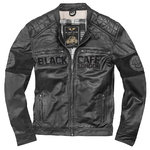 Black-Cafe London New York Chaqueta de cuero de motocicleta