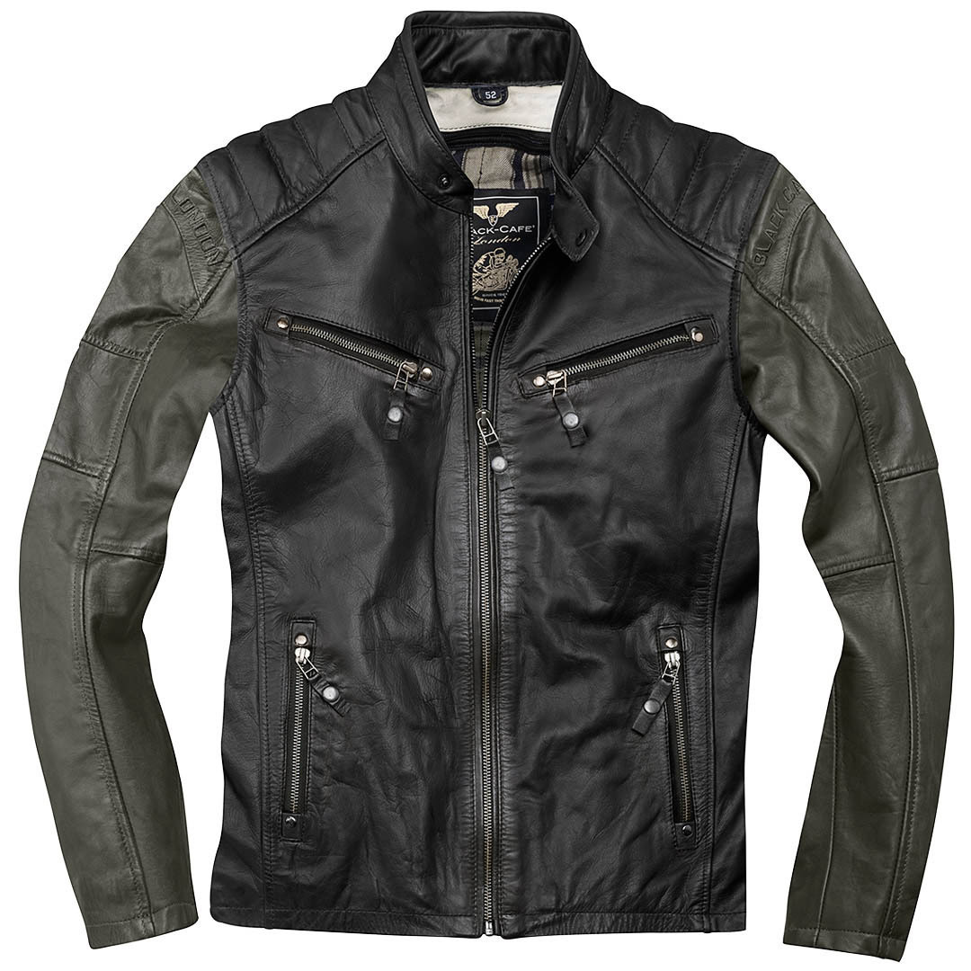 Black-Cafe London Firenze Lederjacke Schwarz Grün 48