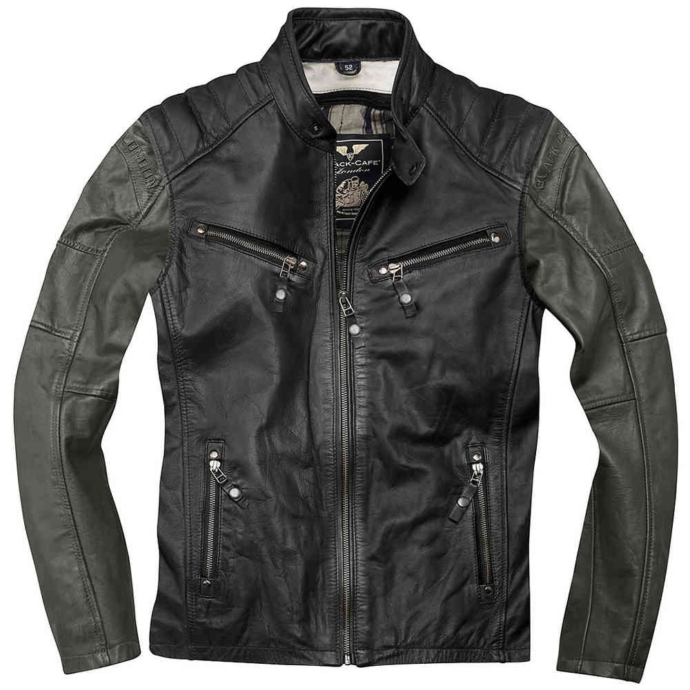 Black-Cafe London Firenze Chaqueta de cuero moto