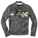 Black-Cafe London SevenT Jaqueta de cuir de motociclisme