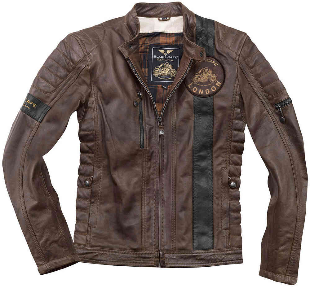 Black-Cafe London Paris 2019 Motorcycle Leather Jacket