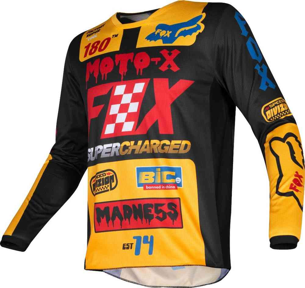 Shot Mens Venom Off-Road Motorcycle Jersey Neon Yellow X-Large