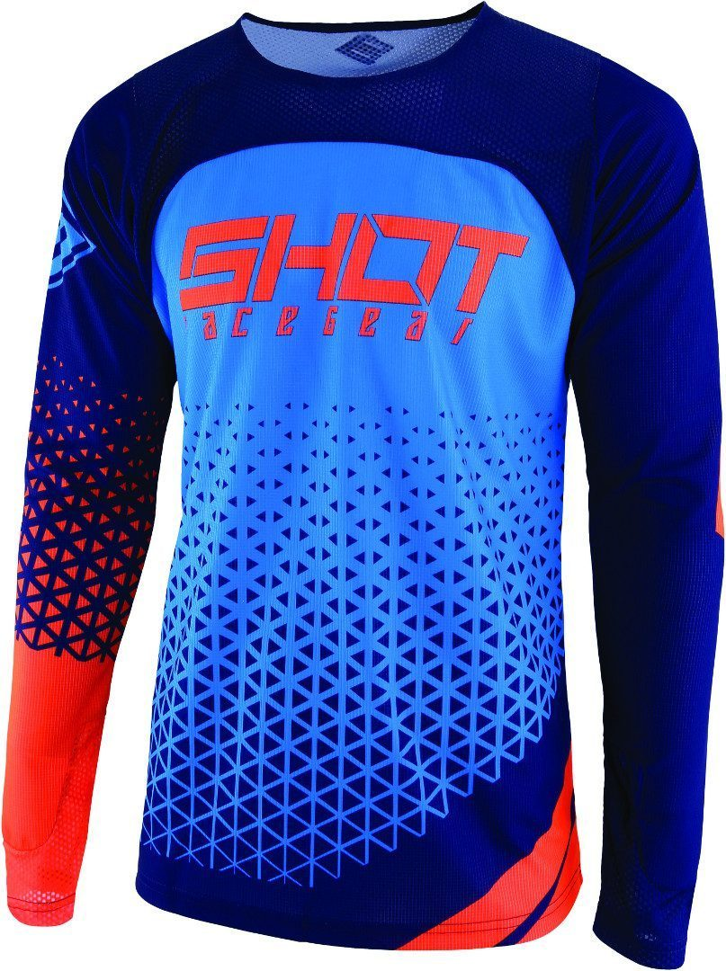 Shot Aerolite Delta Motocross Jersey, blau-orange, Größe L, blau-orange, Größe L